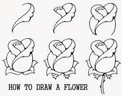 تعليم رسم خطوة بخطوة طريقة رسم وردة سهلة بالصور