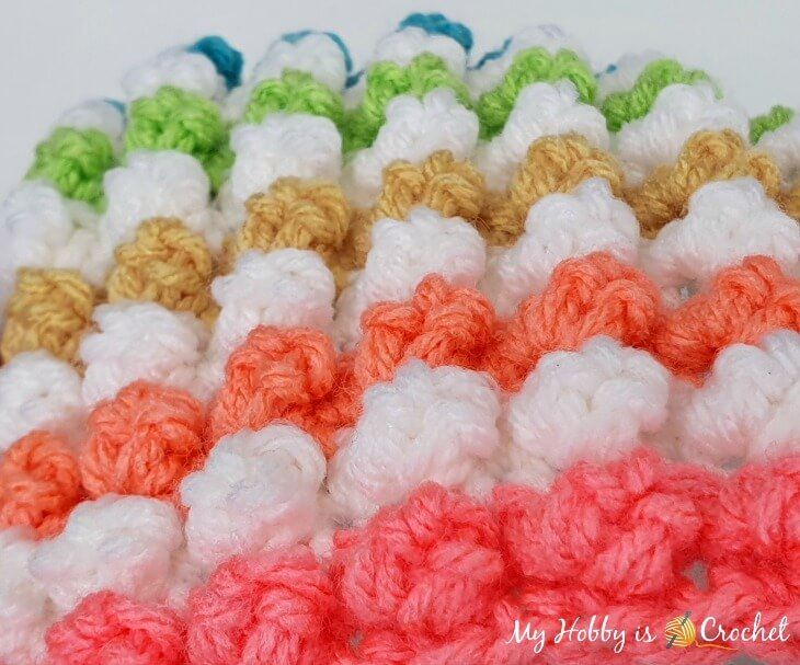 textured 3D bobble crochet stitch pattern