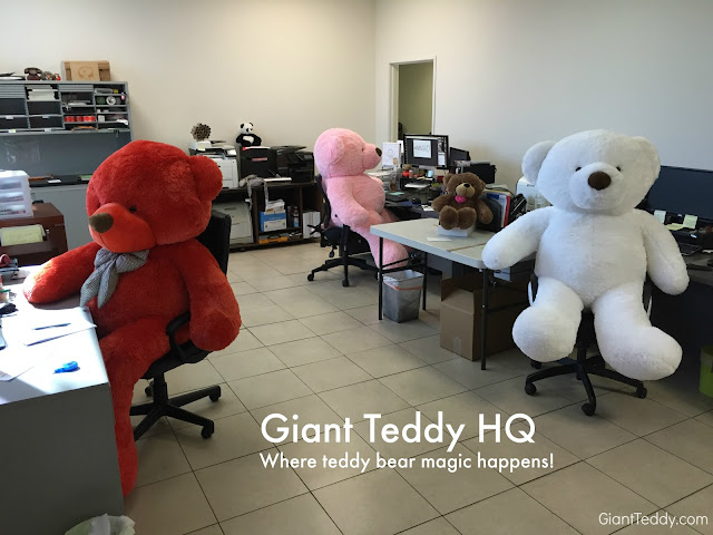 A secret look into the brain center of Giant Teddy HQ...this is where teddy bear magic happens!