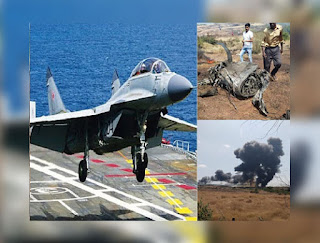 Navy Aircraft Mig-29K Crashes in Goa