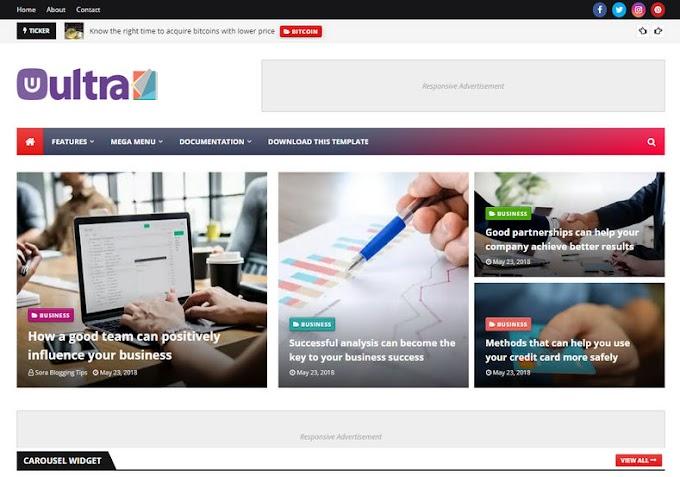 UltraMag Blogger Template - Template blogspot chuẩn seo 2020