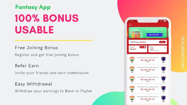 100% Bonus Usable Fantasy App 2021