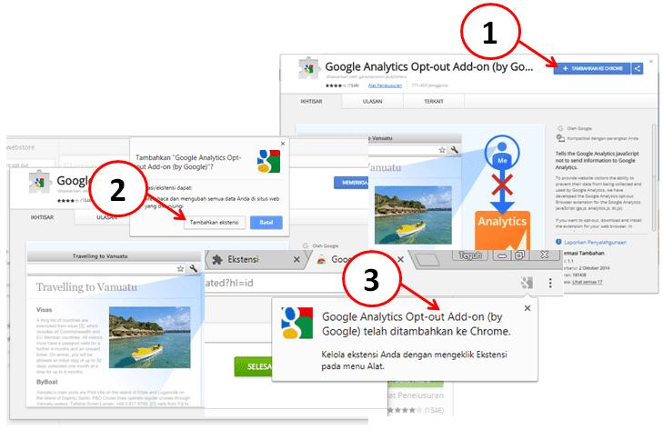 Pemasangan Ekstensi Google Analytics Opt-out