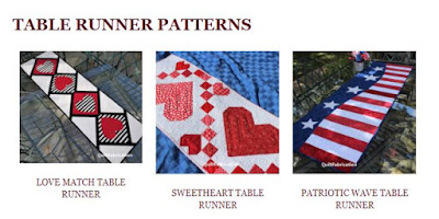 Table Runner Patterns on the Patterns Page at QuiltFabrication
