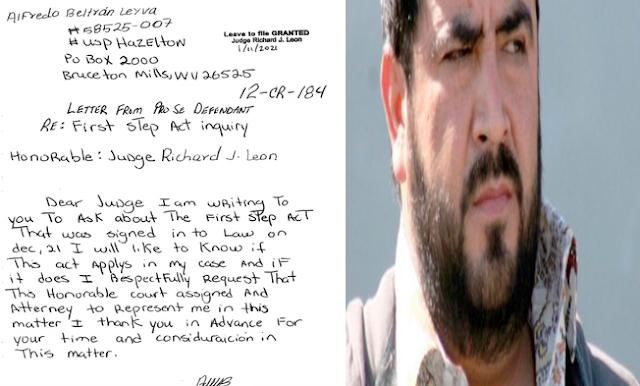 """Alfredo Beltrán Leyva, """"El Mochomo"""" pidió en carta a Juez gringo que lo deje libre por compasión"""