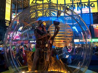 The Lion King Rafiki Snow Globe Times Square New York City Broadway