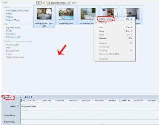 Membuat video dari foto dengan windows movie maker