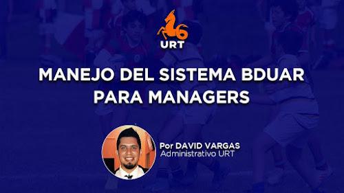 Capacitación: Sistema BDUAR - David Vargas #URT