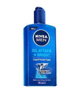 Nivea Men Liquid men liquid facial foam oil attack dan bright