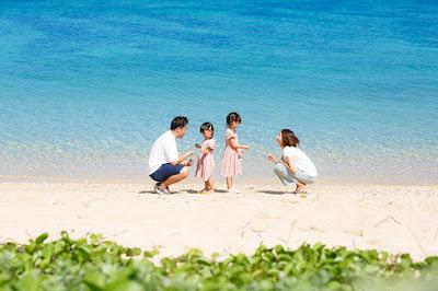 沖縄 ロケーションフォト 家族写真 恩納村 ビーチ