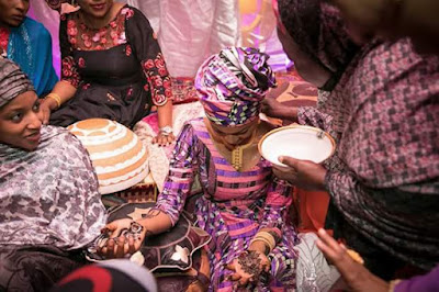 Zahra Buhari's cultural Henna prewedding party