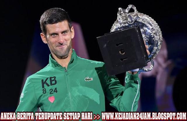 Atlet Novak Djokovic Rebut Gelar Kedelapan Australia Terbuka