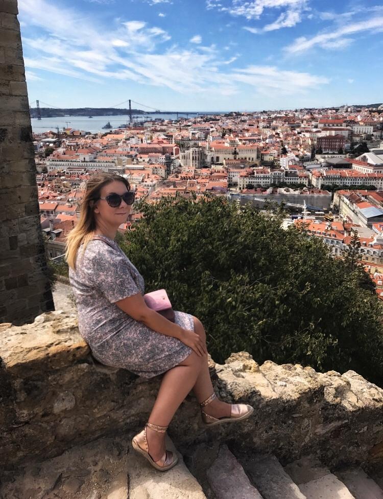Soaking up the scenery at Castello de Sao Jorge Lisbon