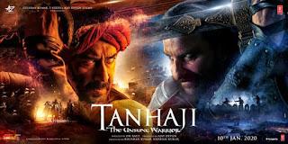 ajay and saif tanaji movie poster