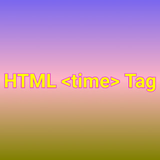 HTML <time> tag