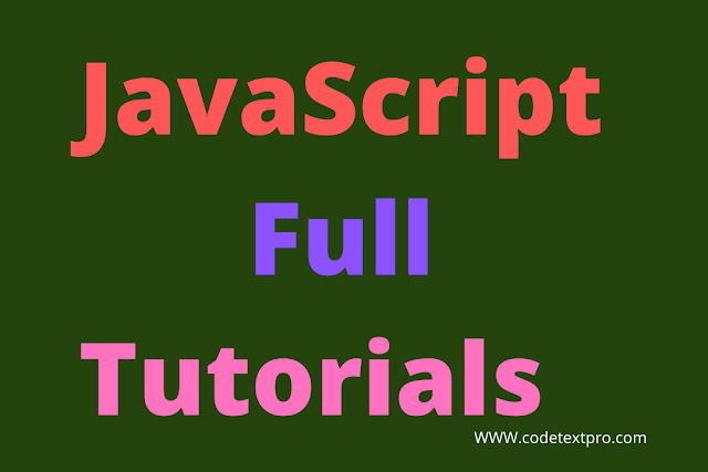 JavaScript Tutorial: Full JavaScript Tutorial Notes with PDF by CodeTextPro
