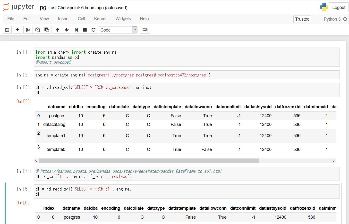 PostgreSQL Deep Dive: PostgreSQLのデータをPandasのデータ