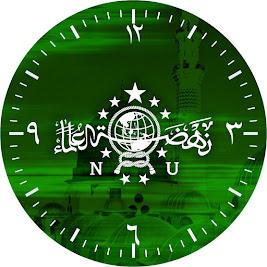 Desain Jam Dinding Custom Logo NU PSD