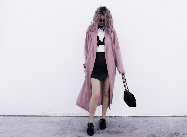 pink coat outfit ideas