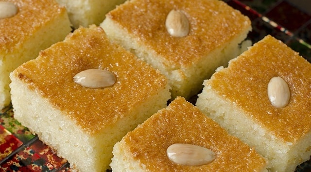 طريقة تحضير البسبوسة الجزائرية بذوق الليمون