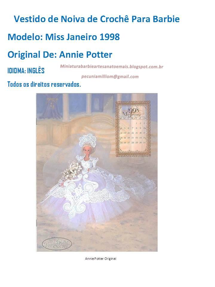 PAP em Português doVestido de crochê de luxo para Barbie