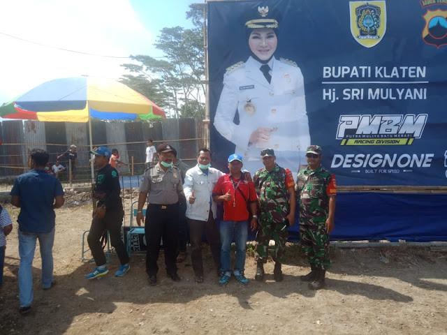 Koramil Manisrenggo Lakukan Pengamanan Lomba Grasstrack