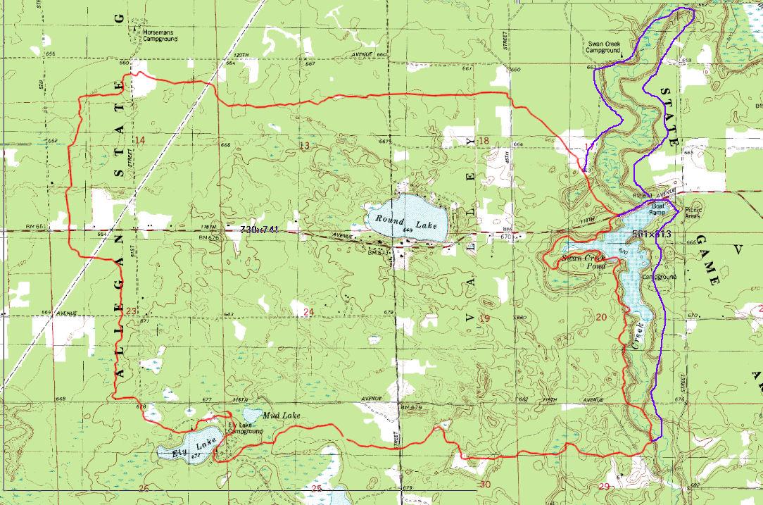 Wakazoo Trail map