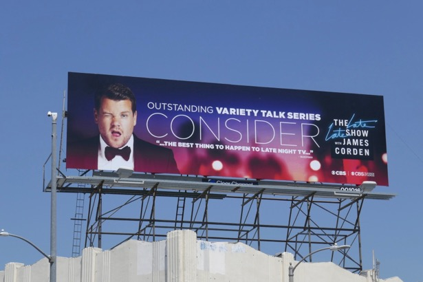 James Corden 2019 Emmy FYC billboard
