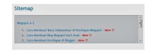 tampilan sitemap blogger 4