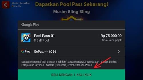 Cara Beli Pool Pass 8 Ball Pool