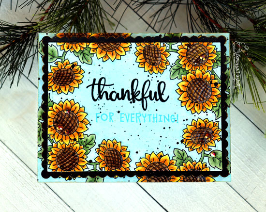 Sunflower Thank You Card by Larissa Heskett | Sunflower Days and Thankful Thoughts Stamp Sets by Newton's Nook Designs #newtonsnook #handmade