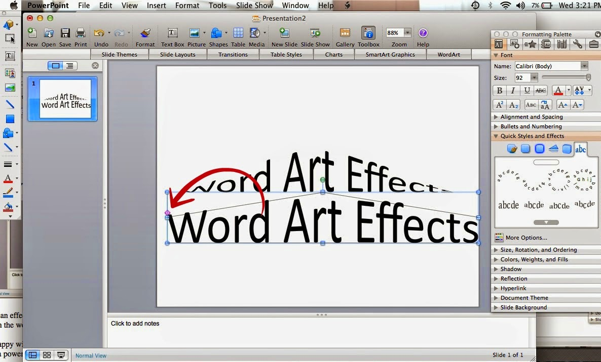 Word art, Silhouette Studio, Silhouette tutorial, powerpoint, effect