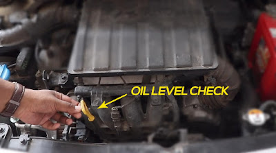 Oil level check