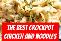 The Best Crockpot Chicken and Noodles Recipe #healthyrecipes #crockpot #chicken #noodles #chickennoodles
