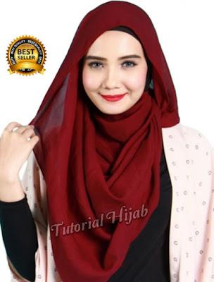 tutorial hijab segi empat simple dan modis untuk wajah bulat