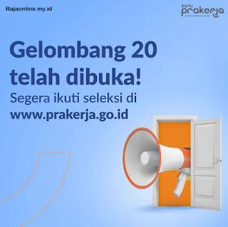 Program bantuan Prakerja gelombang 20 sudah resmi dibuka pertanggal 9 September 2021. Segera daftarkan dan gabung gelombang kali ini untuk mendapatkan dana bantuan produktif sebesar Rp 3.55 Juta.