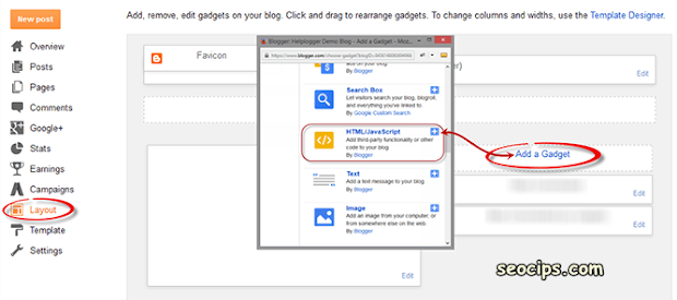 Cara memasang widget sosial share melayang di sebelah kiri blog