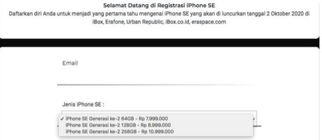 Harga iPhone SE Rp7,999 Juta di Indonesia