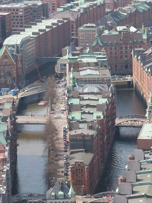 Hamburg, Speicherstadt, Luftaufnahme