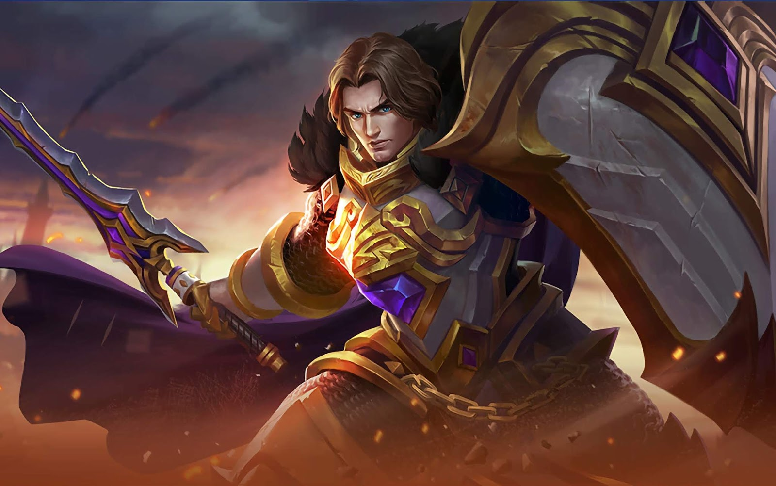 Wallpaper Tigreal Warrior Of Dawn Skin Mobile Legends HD for PC
