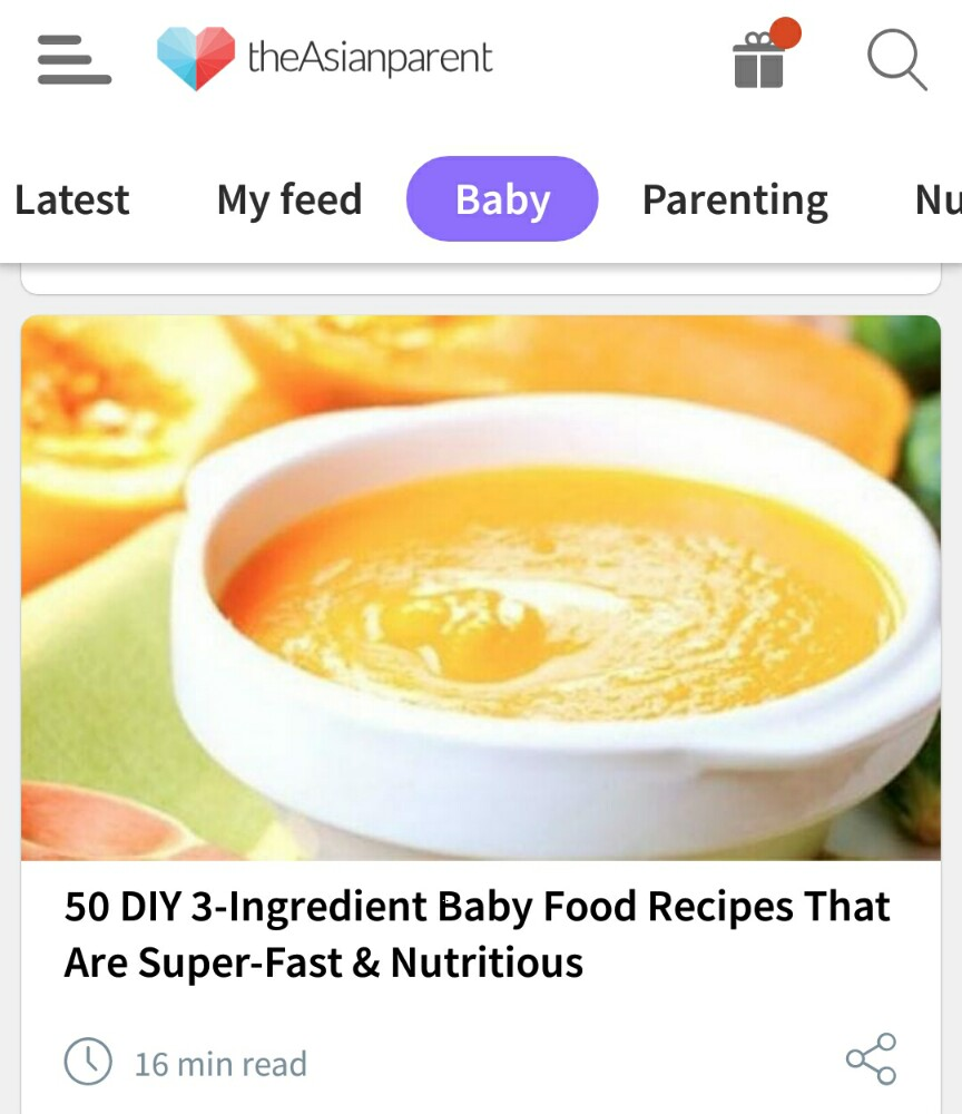 baby related article in the asianparent app