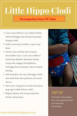 keunggulan little hippo easy fit type