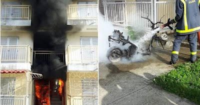 Impresionante explosión de una motorina en el interior de un edificio en Holguín