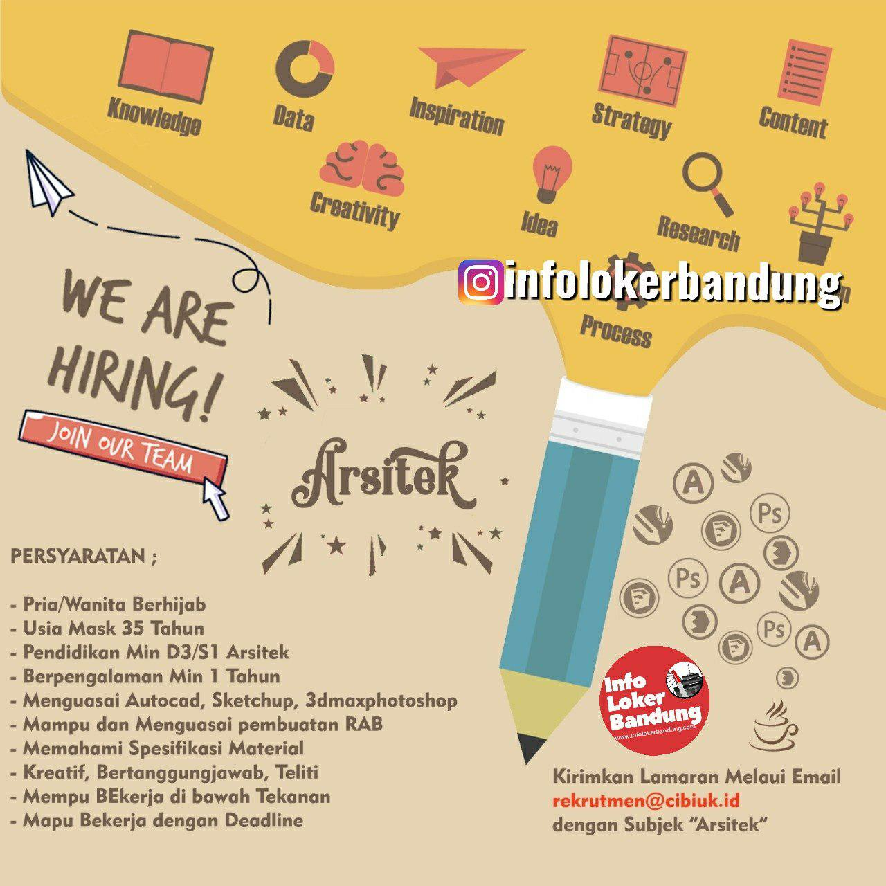 Lowongan Kerja Arsitek RM Cibiuk Bandung November 2019