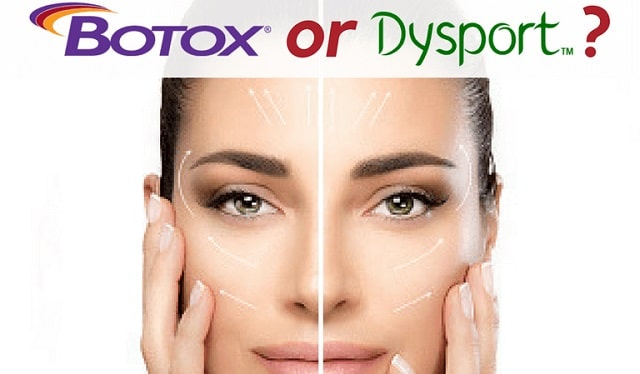 botox vs dysport injections wrinkle reduction