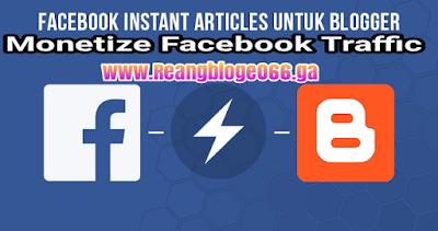 Cara  daftar instan artikel facebook untuk blogger