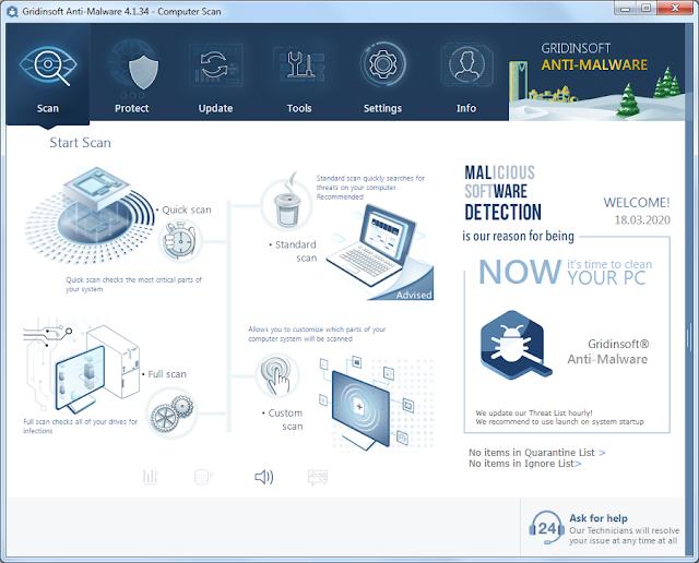 Screenshot GridinSoft Anti-Malware 4.1.34 Full Version