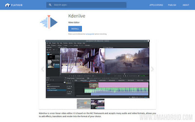 Install Kdenlive Flatpak via Flathub Repository