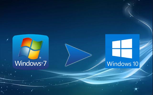 تحديث ويندوز 7 و8 الى 10.