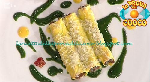Cannelloni di stinco di agnello con salsa ortiche ricetta Bottega da Prova del Cuoco